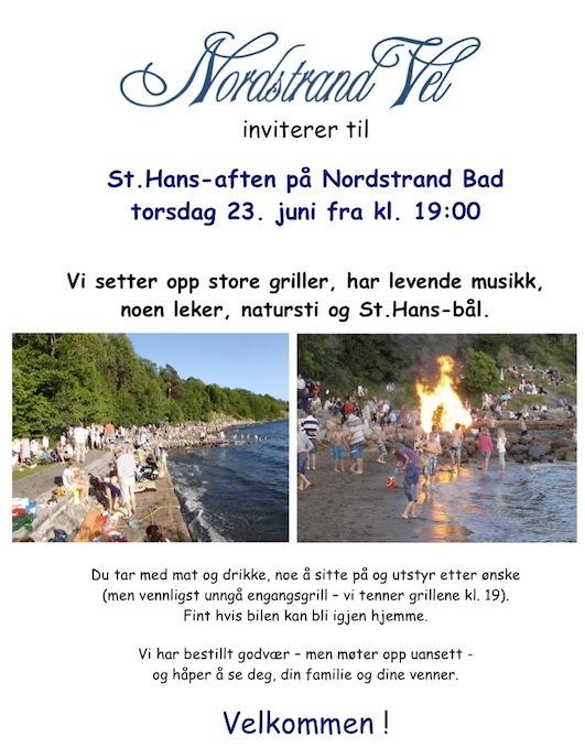 St. Hans Nordstrand Bad invitasjon 2019